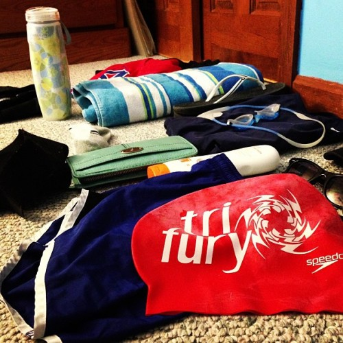 This, ladies & gents, is how you pack for a #triathlon. #PACKEVERYTHING!