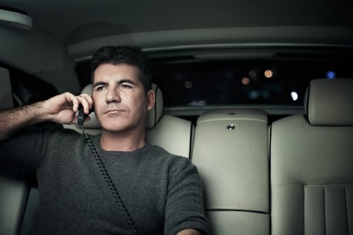 ianderry:  A man in control . My portrait of #simoncowell shot in the back of his Rolls Royce ! #luxury