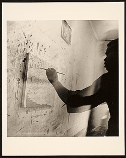 Bob Thompson at Work in his studio. 1964.