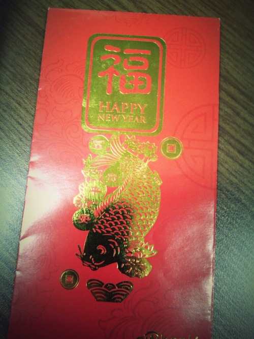 Ang Pao from the big boss. :') #gongxifacai – View on Path.