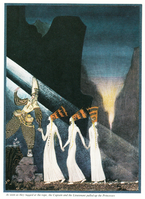 adelphe:  The Three Princesses in the Blue Mountain, illustration by Kay Nielsen 1914