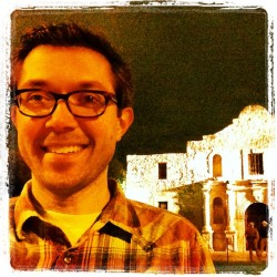#sxsw begins. Yup, that's the Alamo. Nope, I wasn't supposed to be in San Antonio. #thereisnobasement