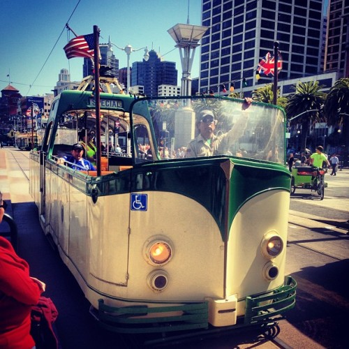 "'Top down screamin out ""MUNI ain't a thang!""' (at Ferry Building)"