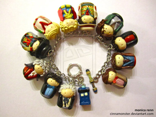 yeah-pretty-much:  Doctor Who Bracelet by ~Cinnamonster I'm going to make John Hurt's Missing Doctor into a charm and place him between Eight and Nine (for now because this is my theory until we find out his actual place in the regeneration dealio). I've been wanting to add to this bracelet for so long now. I am so excited.