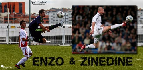 Zizou and Enzo: Pretty cool, huh?