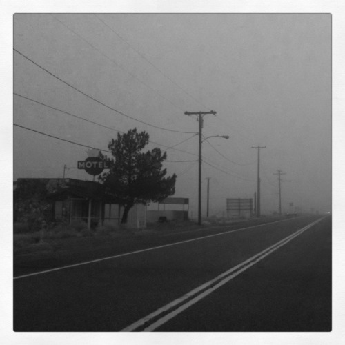 Middle of Nowhere Motel - As I approached this Motel on a foggy and grey afternoon I envisioned Norman Bates looking through the Office window, I may have picked up the pace and sped by not daring to look in the rear view mirror!! I have been accused of having an over active imagination though, but I wasn't about to stop for the night! Image ©Tiffany Detweiler