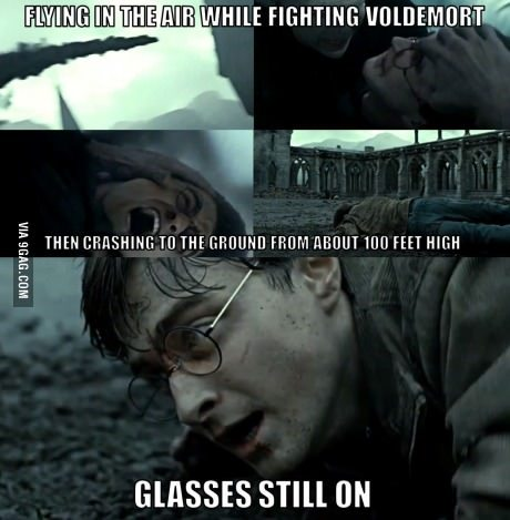 9gag:  Harry Potter logic