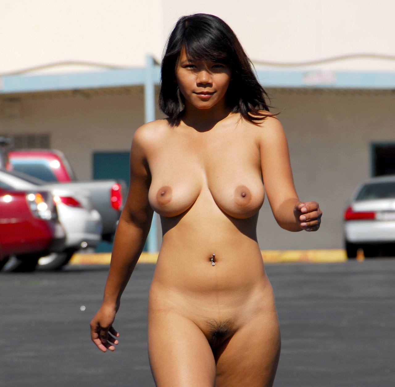 Asian girl public nude