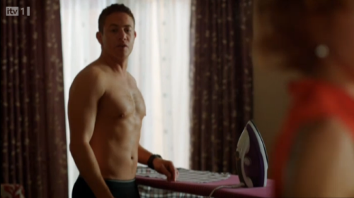 Shirtless Warren Brown