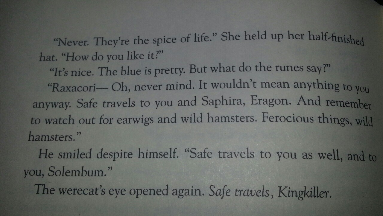 How did I not notice this before?! Picture of Doctor Who reference on page 814 of Inheritance by Christopher Paolini.