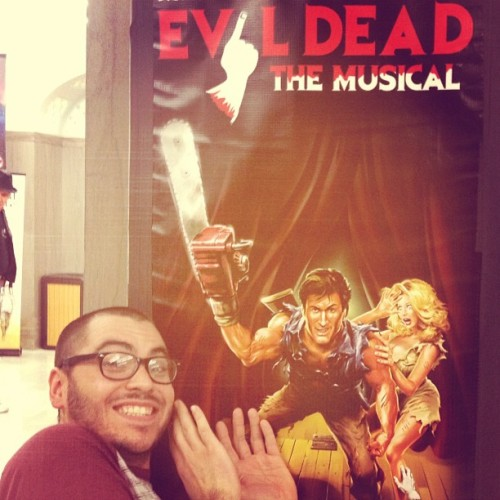 Sort of maybe seeing #evildead the #musical tonight. #gpoy