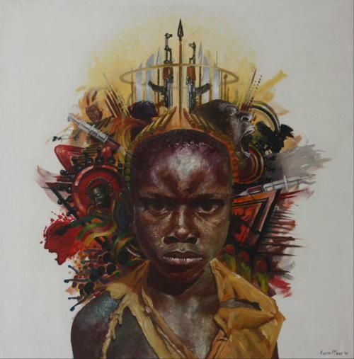 dynamicafrica:  Works by South African artist Loyiso Mkize  Black art is Black History
