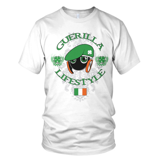 Guerilla Lifestyle Limited Edition Saint Patricks Day Tee avialble at http://shopgmp.com/shop/guerilla-lifestyle/g-life-x-st-pat/