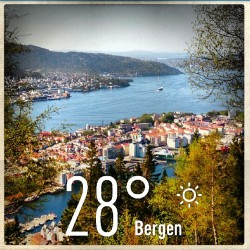 Daily Weather Report for #Bergen #weather #instaweather #instaweatherpro #androidonly #androidnesia #instagood #Bergen #Norway (en Fjellveien)
