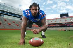 Defensive Tackle Sharrif Floyd out of Florida has been taken by the Minnesota Vikings at 23rd in the 2013 Draft. The Vikings have a ways to go in order to legitimately become a contender for a championship. Obviously, their run game is fantastic with RB Adrian Peterson in video game mode, so why not step up their defense?