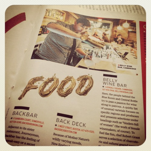 Best of the New: FOOD 2012- - Boston Globe Magazine