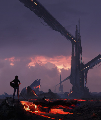 glycogn:  Sci-Fi Lava Colony by Jadrien Cousens