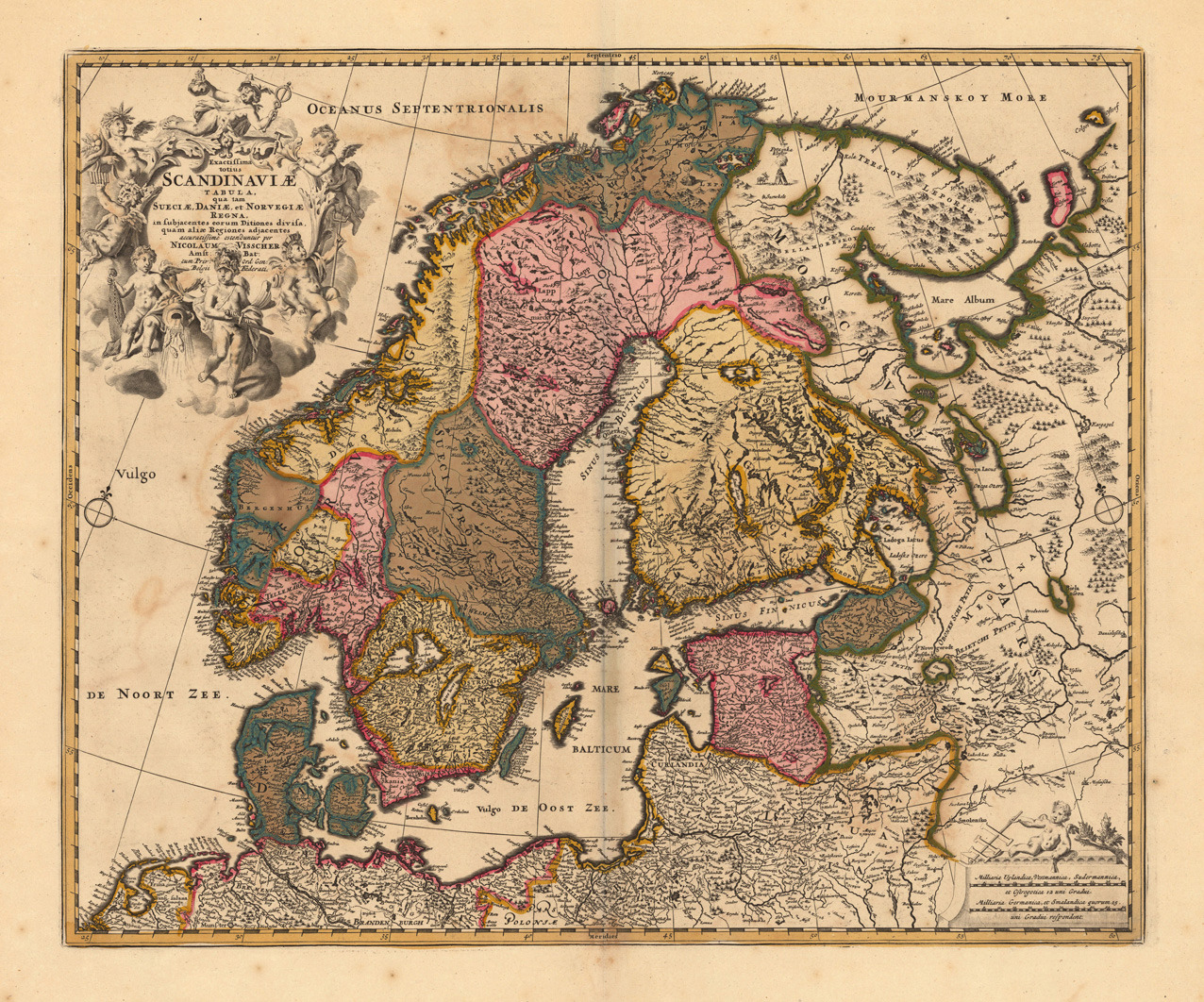 billieandbess:  Antique map of Scandinavia