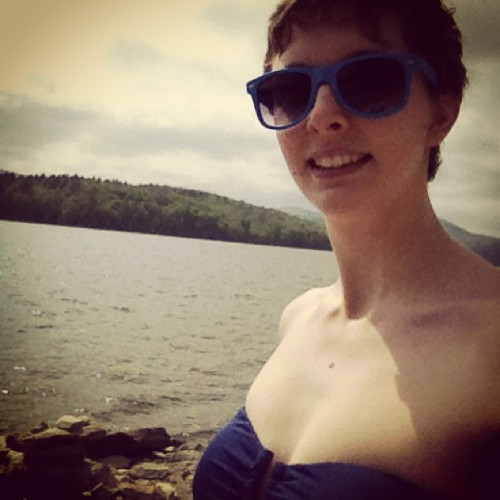 At the lake! Crazy cold water!! (at Ward's Cove)