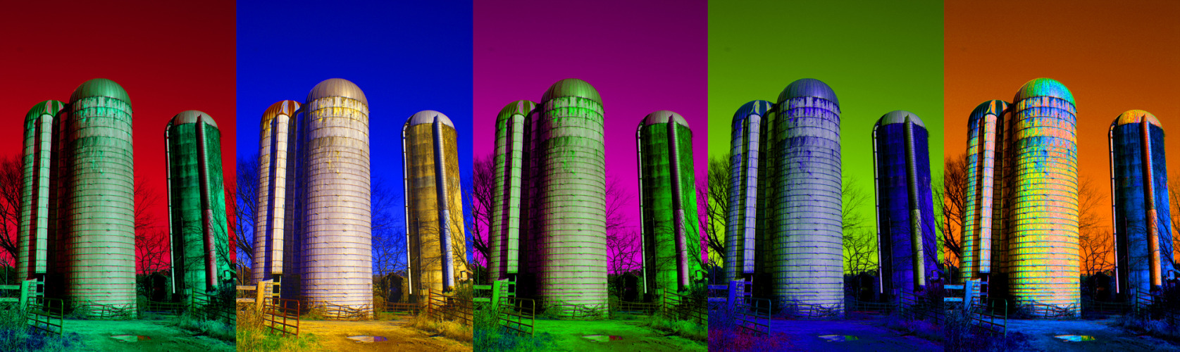 from an old photo I took of grain silos near my parents house in Chapel Hill