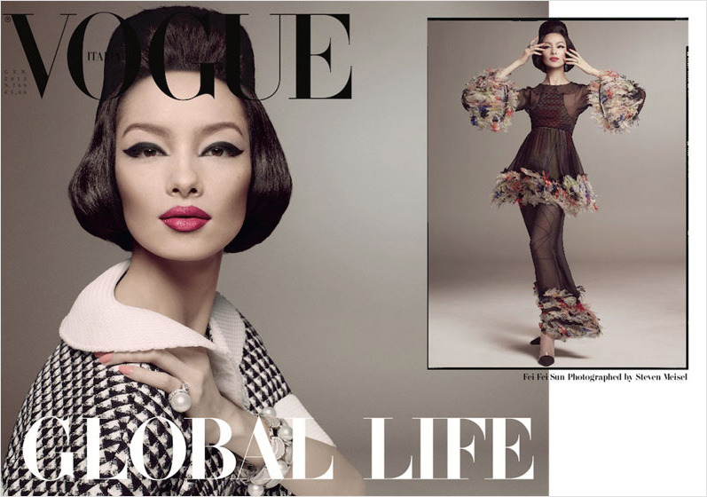 Fei Fei Sun by Steven Meisel for Vogue Italia January 2013.