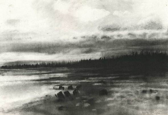 blue-voids:  Emily Nelligan - charcoal on paper, 1989-2003