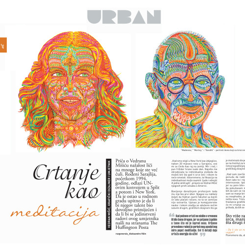 First press coverage of my art. And it's a magazine from my hometown of Sarajevo. Very special moment for me! You can a see 3-page feature on my website VedranArt.com or my Facebook Page.