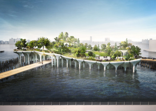 "dezeen:Thomas Heatherwick to build $130 million ""treasure island"" on New York's Hudson River »"