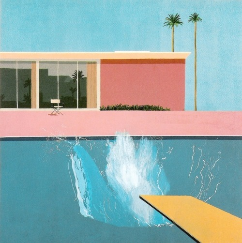 aclockworkorange:  David Hockney, Bigger Splash, 1967