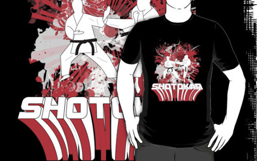 "(via ""Shotokan Karate Action Shirt"" T-Shirts & Hoodies by dotstarstudios 
