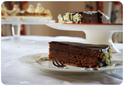 I made a Sachertorte and a Hazelnut Mocha Pie for my dad's birthday.