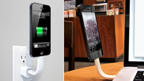 An iPhone 5 Cable That Never Tangles and Doubles as a Stand http://bit.ly/183EXSR