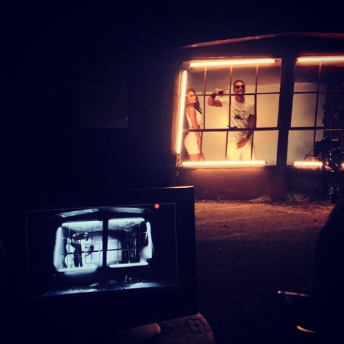 "allthingstreysongz:  Trey on the set of Sean Garrett video ""Twlight"""