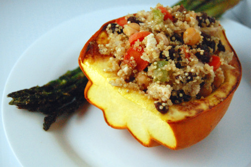 Moroccan Vegetable and Couscous Stuffed Squash