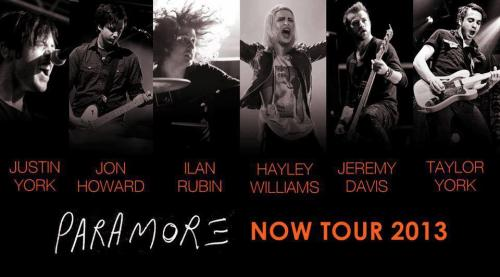 loveparawhorelove:  Paramore. Now Tour 2013