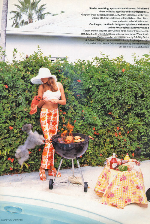 'See You In Miami' from……………Vogue UK June 1995 feat Bridget Hall