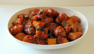 Small Potatoes Braised with Smoked Paprika and Fresh Oregano by thedabble on Flickr.