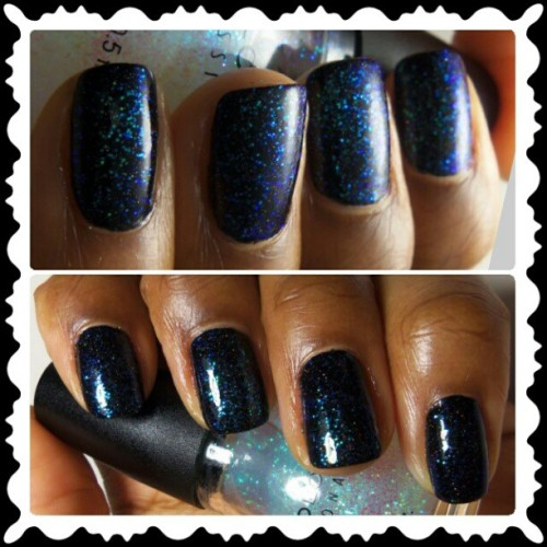 #SinfulColors Pearl Harbor over #NailsInc Disco Lane…even prettier IRL