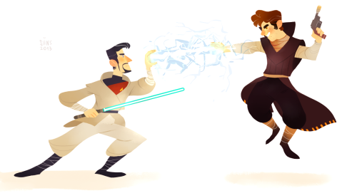 siins:  fullsize view i guess light side xephos vs dark side ridge UwU i had a lot of fun with this one as usual.. lineless is really funnn