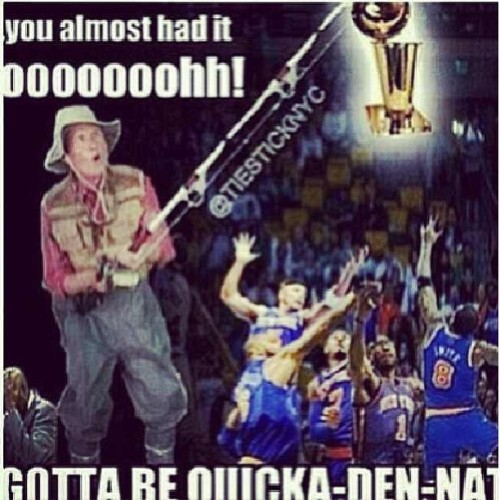 Hahahahahaha look what my boy @tampons2_4_1 posted for all the #knicks fans out there lol #knickstape #nba #nbaplayoffs #life