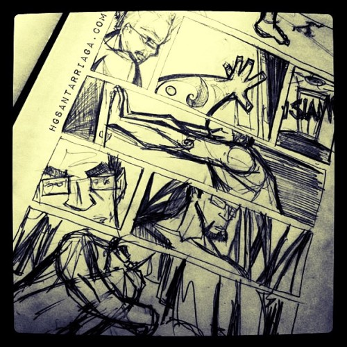 Layout… #comic #comics #sketch #dibujo #draw #drawing #illustration #ilustración #hgsantarriaga  #art #artwork #artprocess #wip #process #pencils #boceto #trazo #arte #myart #scifi #cyberpunk
