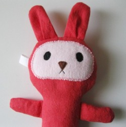 - gifts - i designed and made this cute little rabbit for a friend's newborn baby, using the softest brushed cotton fabric ever!  featured on my blog: http://www.laaperdesign.com/2012/12/my-creations-christmas-gifts-for-kids.html