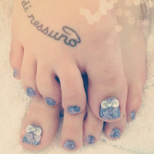 Julia's prom perfect twinkle toes  (at Classy Claws Nail Studio)