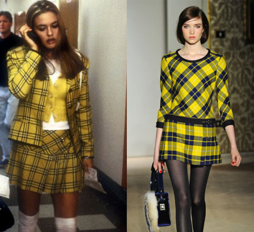 Fay F/W 2013 is serving up some Cher Horowitz realness. She would totally carry that furry bag too.