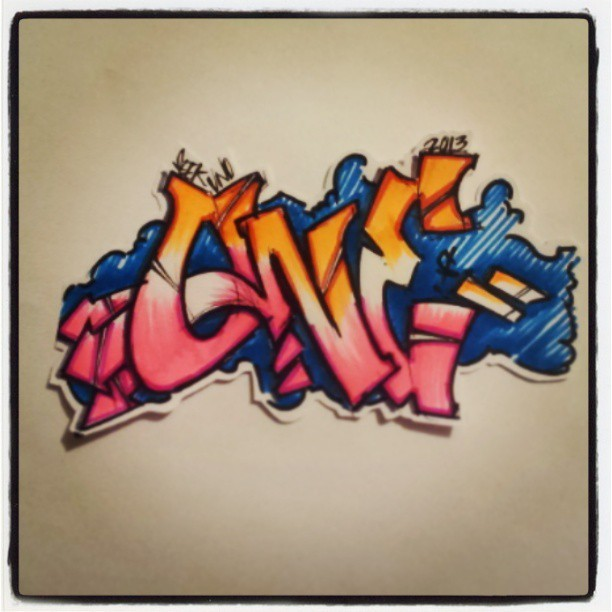 JusT #ONE quiCK #Sketch for #GRAFFITIBATTLECLUB Let the GameS begin. #graffitiartist #graffitiart #seek #uno #sharpie #CK #SoCal #LosAngeles #ESLOS