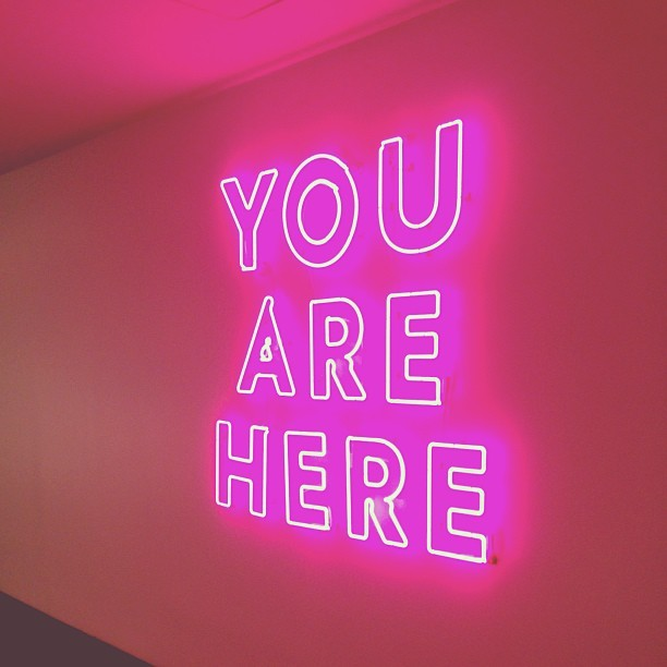 And now a (very pink) meta message from Kate Spade HQ