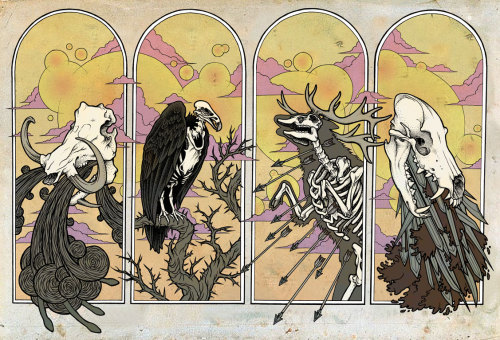 andthedayturnedintonight:  Horsemen of the Apocalypse by Matt Verges