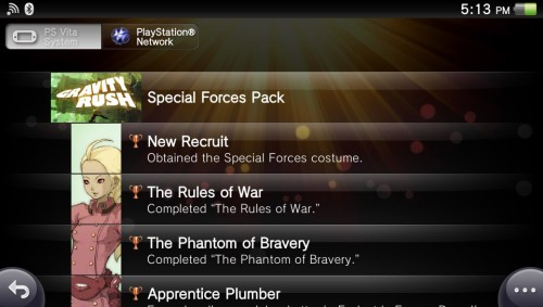 xurneas:  fucking gravity rush DLC trophies this is gold