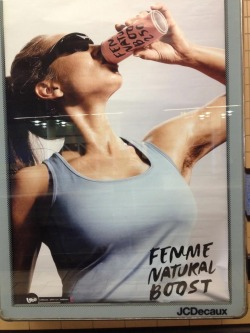 feminafelis:  This is a swedish advertisement for an energy drink. They are using a hairy model, which is like, so awesome I can't even like explain it, omg.