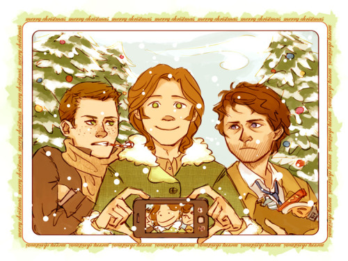 anaeolist:  Cheesy Team Free Will stuff! Snow and yuletide and things.  Merry Christmas everyone!